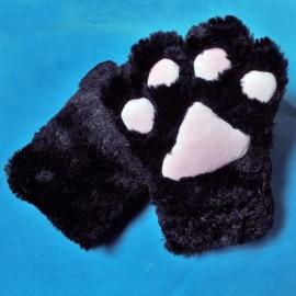 Kocie łapy czarne - rękawiczki