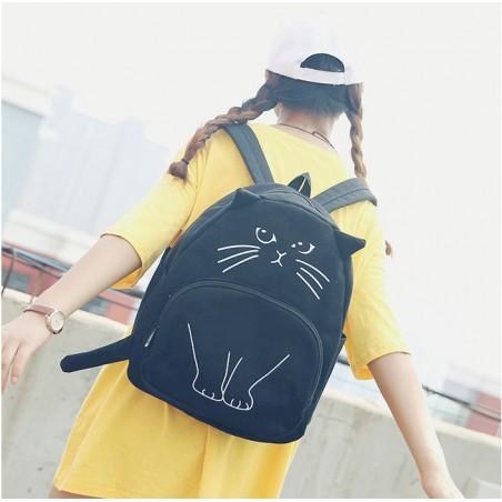 Plecak - Czarny kot