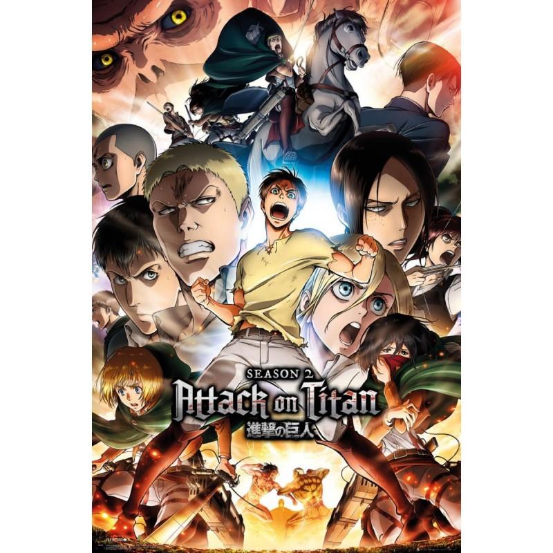 Duży plakat - Atak Tytanów v4