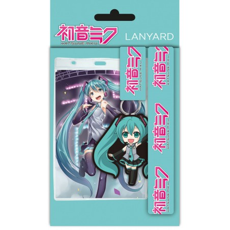 Zestaw Hatsune Miku: Smycz + brelok + identyfikator